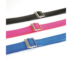 "Sammons Preston Quick Clean Gait Belts - Metal - 72"" - Black"
