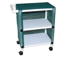 MJM Mini Shelved Carts - 3 Shelf, Linen, Mesh, Navy
