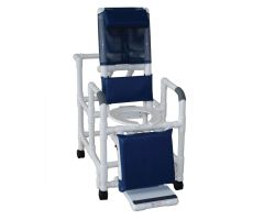 """Reclining Shower/Commode Chair With Pail - 20""""W"""