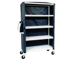 MJM Large Shelved Cart - Four-Shelf Cart, Mesh - Forest Green
