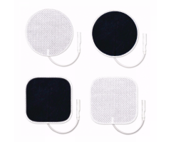 "ValuTrode Cloth Electrodes - 2"" Square - 40 Pack"