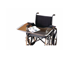 Clear Bariatric Wheelchair Tray with Aluminum Rim