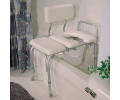 Carex Padded Transfer Bench with Commode