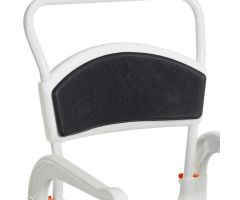 Etac Clean Shower Commode Chair Accessories - Soft Back Pad - Grey