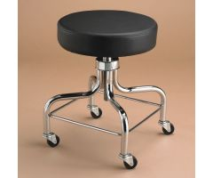 Therapy Stool with Square Foot Ring - Black