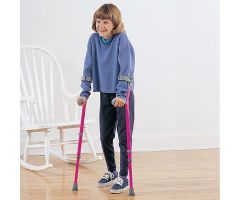Walk-Easy Forearm Crutches - Adult, Black/Gray