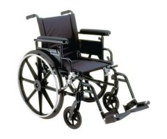 "Drive Viper Plus GT Wheelchair - 22"" Full Arm, Footrests"
