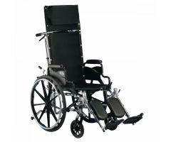 "Invacare 9000 XT Recliner Wheelchair- 18"" W x 17"" D, Desk Arm"