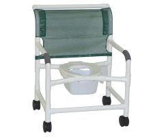 MJM Extra-Wide Shower and Commode Chair - Woodtone