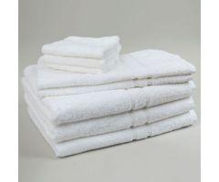 "Premium Terry Cloth Towel - Bath Towel, 24"" x 48"", White, 8 lbs"