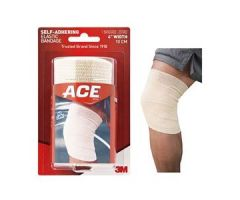"3M ACE Self-Adhering Athletic Bandage, 4""x 5yd Stretched, Tan"