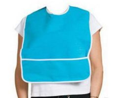 "A-T Surgical Adult Terry Bib Crumb Catcher Plastic Back 16"" x 24"""