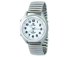 Atomic Talking Watch Male Voice Fluorescent Hands-LEATHER