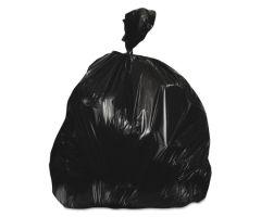 Trash Bag Heritage 60 gal. Black HDPE 22 Mic. 38 X 60 Inch Star Seal Bottom Coreless Roll