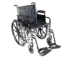Lightweight Wheelchair McKesson Dual Axle Desk Length Arm-1065276