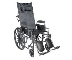 Reclining Wheelchair McKesson Desk Length Arm Padded