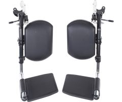 Elevating Legrests only, Black Pair, fits 10965D, etc.