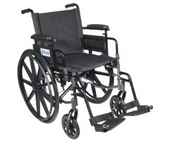 "Wheelchair Ltwt K-4 Flip-Back Adj Desk Arms w/ELR's 20"""