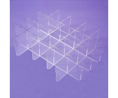 Clear Acrylic Divider Set for Deep Crash Cart Boxes for Metro Lifeline Cart