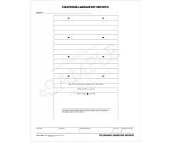 Telephone/Laboratory Reports Mount Sheet