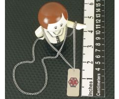 Emergency I.D. Necklace, Blank Medical