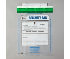 Alert Personal Property Bags, Clear, 9 x 12