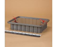 Divider Box with Security Seal Holes - Gray