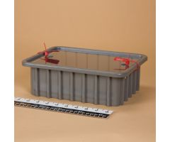 1139 Divider Box with Security Seal Holes - Gray