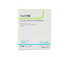 "ComfiTel Silicone Contact Layer Wound Dressing - 2"" x 3"""