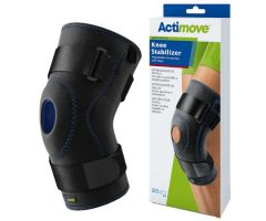 Knee Stabilizer Actimove Sports Edition Medium Pull-On / D-Ring / Hook and Loop Strap Closure 16 to 18 Inch Thigh Circumference Left or Right Knee