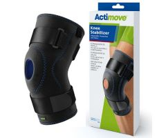 Knee Stabilizer Actimove Sports Edition X-Large Pull-On / D-Ring / Hook and Loop Strap Closure 20 to 22 Inch Thigh Circumference Left or Right Knee