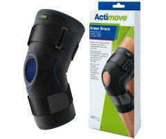 Hinged Knee Brace Actimove Sports Edition Medium Wraparound / D-Ring / Hook and Loop Strap Closure 16 to 18 Inch Thigh Circumference Left or Right Knee