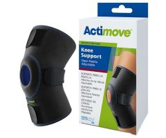 Knee Support Actimove Sports Edition One Size Fits Most Pull-On / Hook and Loop Strap Closure 11-1/2 to 16-1/8 Inch Knee Circumference Left or Right Knee