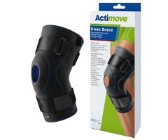 Hinged Knee Brace Actimove Sports Edition 3X-Large Pull-On / D-Ring / Hook and Loop Strap Closure 24 to 26 Inch Thigh Circumference Left or Right Knee