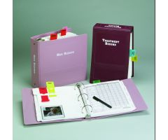 "Treatment Record Imprinted Ringbinder - 2-1/2"" Top Open 3-Ring, Burgundy"