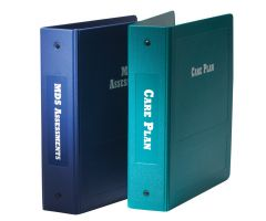 "Care Plan Imprinted Ringbinder - 2-1/2"" Side Open 3-Ring, Teal"
