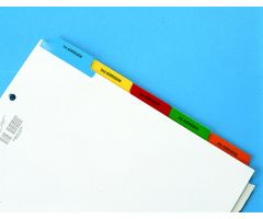 Chart Divider Tab - 5th/6th Admission - Paper - Side Tab - 2-Hole Top Punched