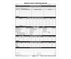 Monthly Resident Infection Analysis Form