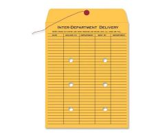 Quality Park Interdepartment Envelopes 9 in x 12 in Brown 100/Box 100/Bx