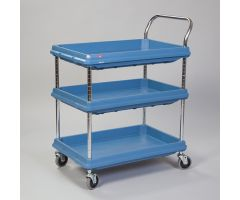Metro  Deep Ledge Utility Cart, 3-Shelf