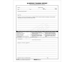 In-Service Training Report/Attendance Record