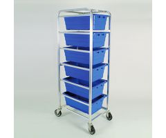Rolling Rack for 6 Tote Bins