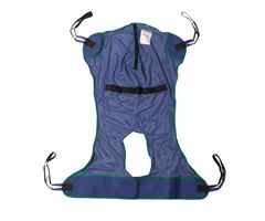 Drive Full Body Patient Lift Sling-Mesh w/ Commode Cutout-Large