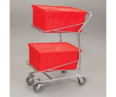 Hinged Lid Transfer Box Cart