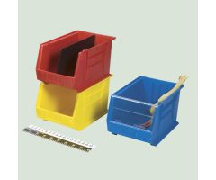 Stack-Tote Bin, 11x10x18 - Red