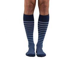 Striped Compression Sock, 20-30 mmHg Compression, Black, Men's Size M