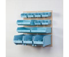 Small Louvered Bin Panel, 18x19