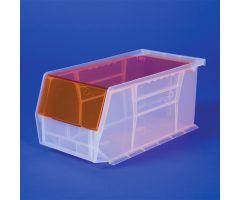 Super Tough Bin w/Clear Lid, 11x5x11 - Berry