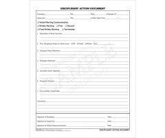 Disciplinary Action Document