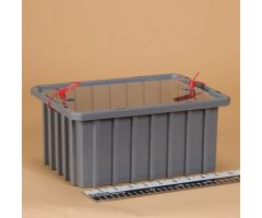Divider Box with Security Seal Holes - Semi-Clear